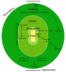 A typical cricket field